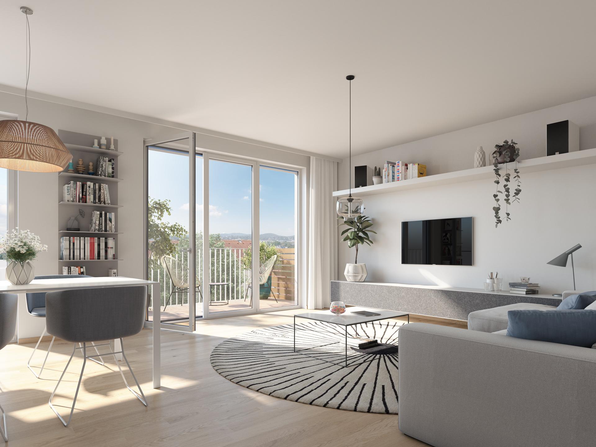 Bendlgasse 33 Wohnzimmer Mit Balkon Top 238
