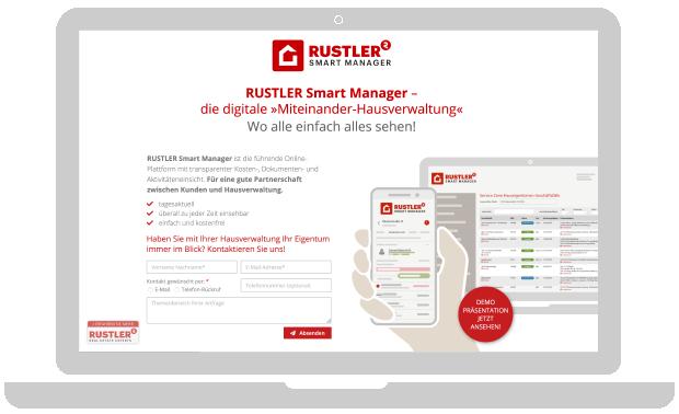 RUSTLER SmartManager Landing Page